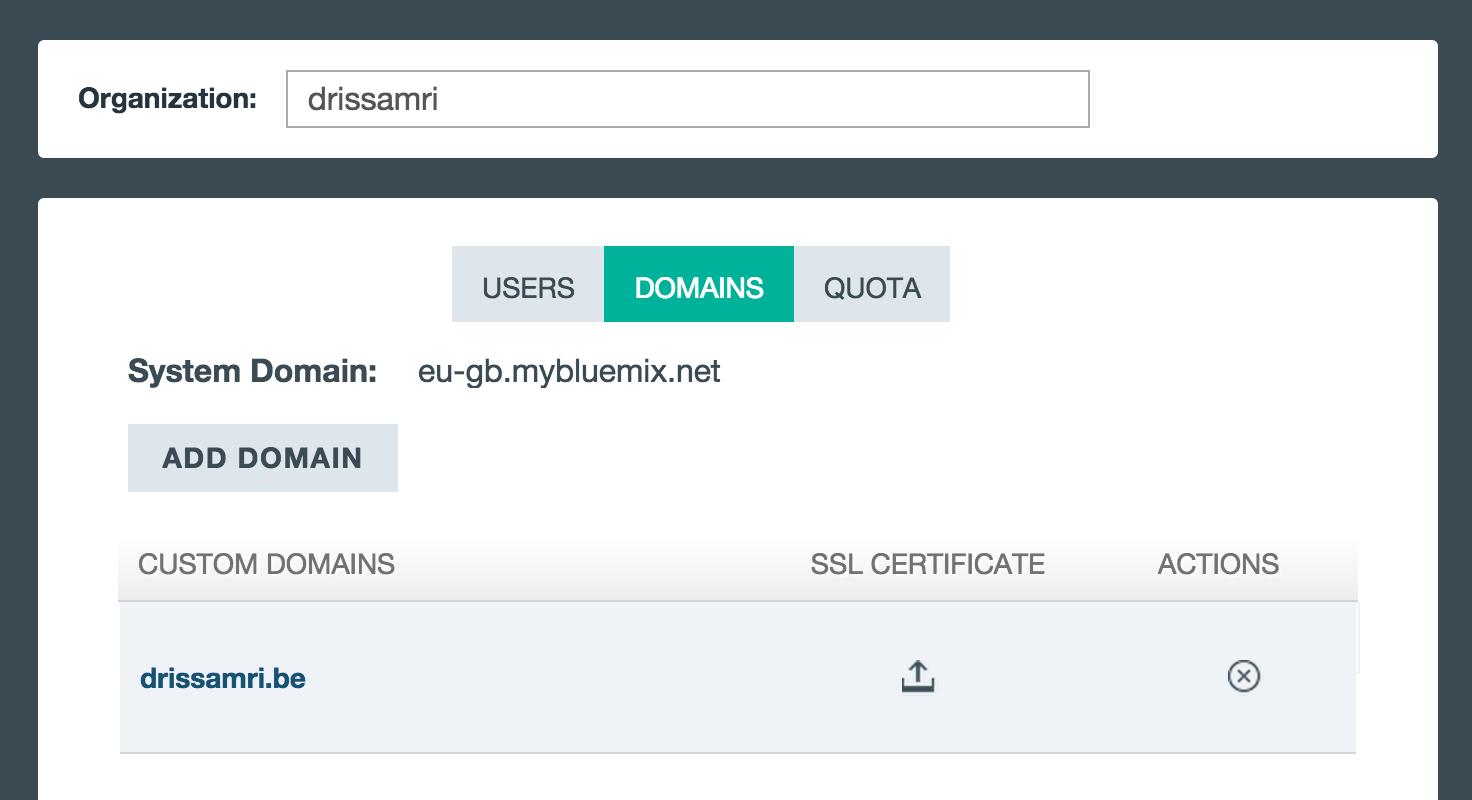 Bluemix domains
