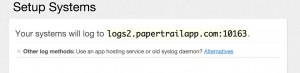 Your Papertrail endpoint URL
